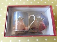 M & S Dog -Themed China Mug Coaster & Tray Gift Set BNIB - cash on collection from Gosport Hampshire