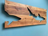 Pallet Art - Tiger Sharks