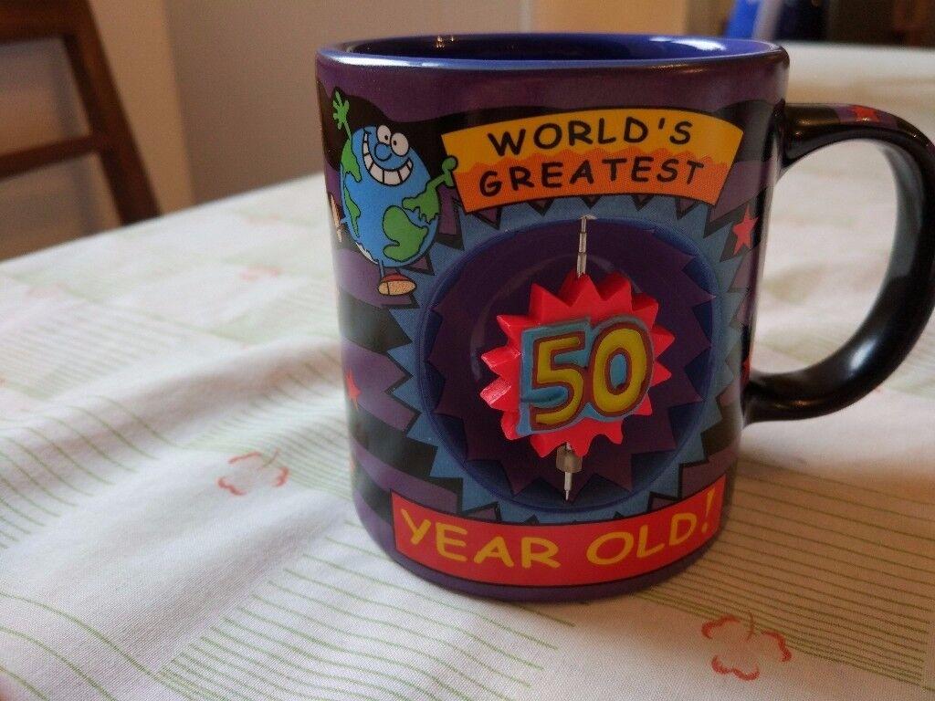 'Worlds Greatest 50 year old' novelty mug. As new