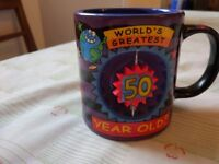 'Worlds Greatest 50 year old' novelty mug. As new