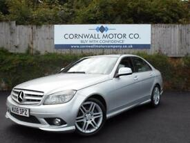 MERCEDES-BENZ C CLASS 2.1 C220 CDI SPORT 4d AUTO 168 BHP NEW MOT AND SER (silver) 2008