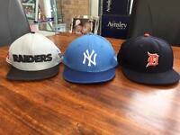 3 x Junior Kids NewEra 9FIFTY SnapBack Caps