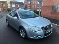 2007/57 VOLKSWAGEN EOS 3.2 FSI V6 SPORT AUTO DSG SILVER 2 OWNERS FVWSH FULL LEATHERS Not GOLF R32