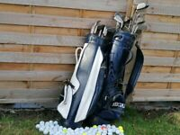 Full Golf set for 2 persons - 2 golf bags, 20 sticks and 70 balls