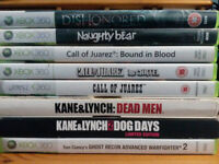 Xbox 360 Games - 8 for £20 inc Dishonored, Naughty Bear, Call of Juarez 1+2+3, Kane&Lynch 1+2