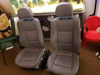 Authentic BMW e46 grey leather front seats