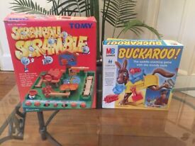 SALE 2 Superb Games Screwball Scramble and Buckaroo Excellent Condition - As NEW