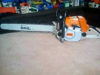 """Stihl 044 pro chainsaw in exc condition,25"""" bar and chain or 20"""" if preferred."""