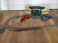 Thomas Trackmaster Tidmouth Sheds and trains