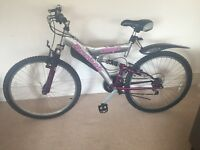 Reebok Mountain Bike - full suspension, great condition