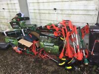 Joblot of spares or repairs garden mower chainsaw strimmers etc