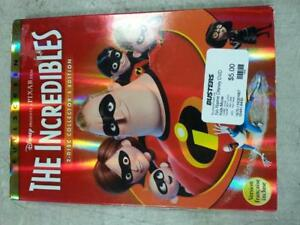 Disney's The Incredibles 2 Disc DVD Set. We Sell DVDs and Blu Rays (#8430)