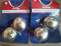 38mm x 3 pairs Brass cupboard knobs by Keypsafe new