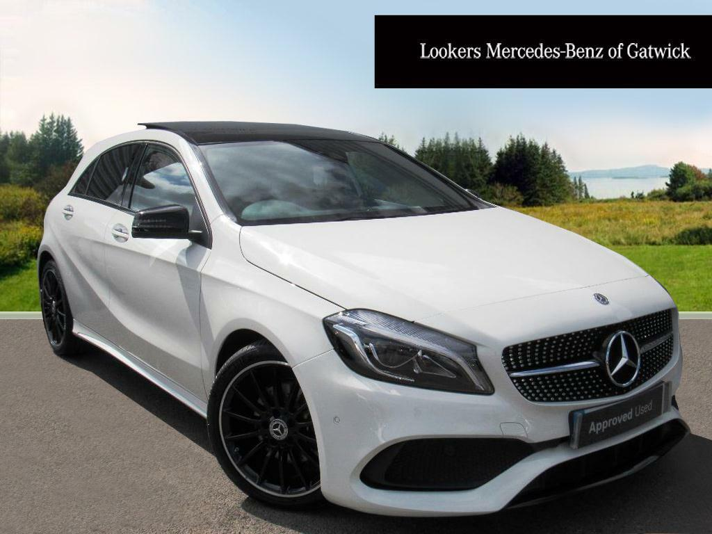 mercedes benz a class a 200 d amg line premium plus white 2017 06 19 in crawley west sussex. Black Bedroom Furniture Sets. Home Design Ideas