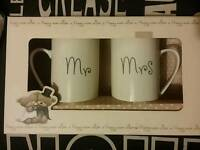 Mr and Mrs gift mugs