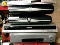 Sky plus boxes x 2 philips video recorder x 1 Bush dvd player