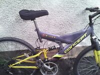 CONNCEPT MOUNTAIN BIKE,18 INCH FRAME,26 INCH WHEELS,18 GEARS,GOOD TYRES.