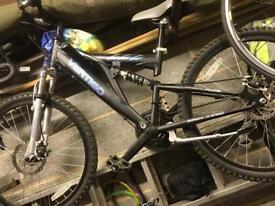 Full suspension mountain bike 21 speed