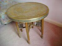 demountable brass table