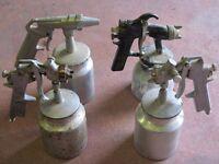 4 X AIR COMPRESSOR SPRAY GUNS