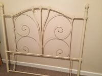 Double bed cream headboard in immaculate condition