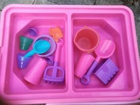 Disney Sand & water table with the toys