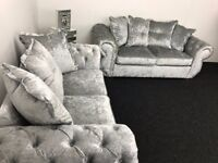 Chester Lux 3+2 Sofa Crushed Velvet Sofa - Fast & Free 2 Man delivery within 50 miles - 07720616820