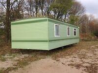 Static caravan for sale off site. BK Contessa 28' x 12' environmental colours.