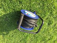 Extention Cable Reel with Thermal Cut-Out and Reset Button, 25 m 13 A 4 Socket