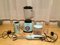 Breville - Retro Collection - Electric Blender, Food-processor and Hand Held Whisk. Mint Green.