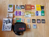 Original Gameboy Classic Bundle, with 12x Games, Camera, Printer, Official Case & Light/Magnifier!