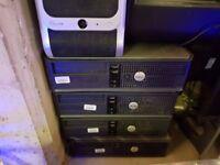 6 Dell optiplex desktops + monitors