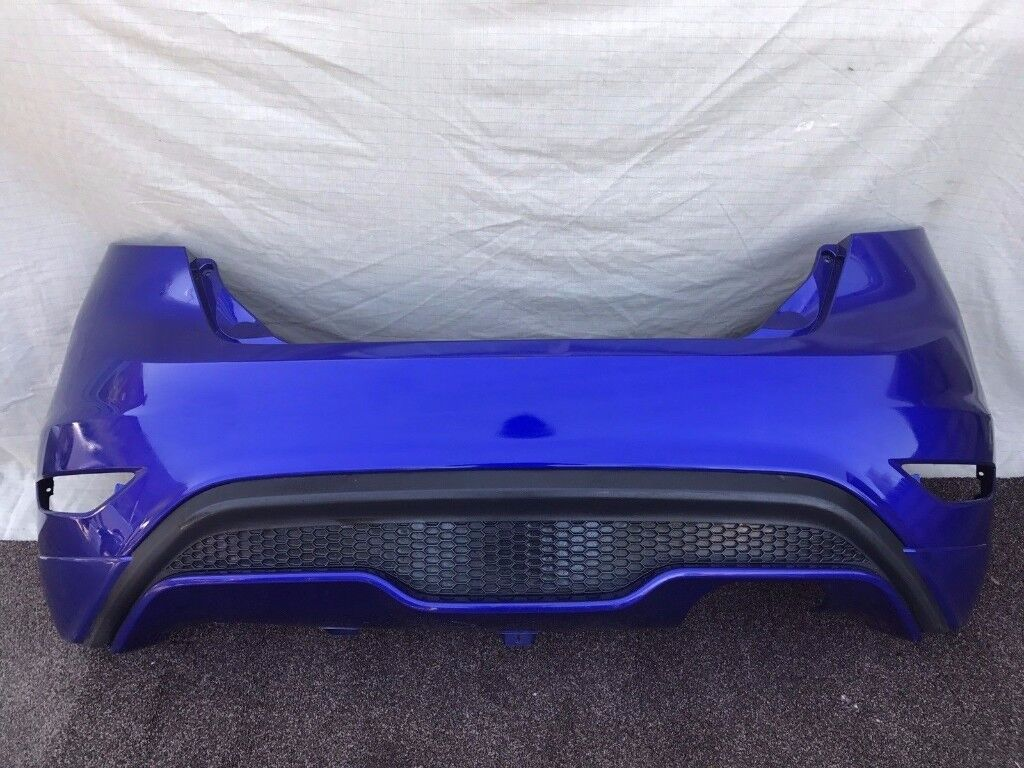 2016 FORD FIESTA ST - REAR BUMPER COMPLETE in BLUE - PDC Model - V Good Cond