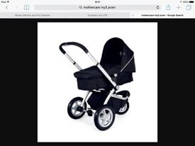 Mothercare MY3 Pram & Car Seat including All accessories