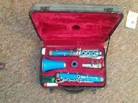 Odyssey clarinet blue 5 peice