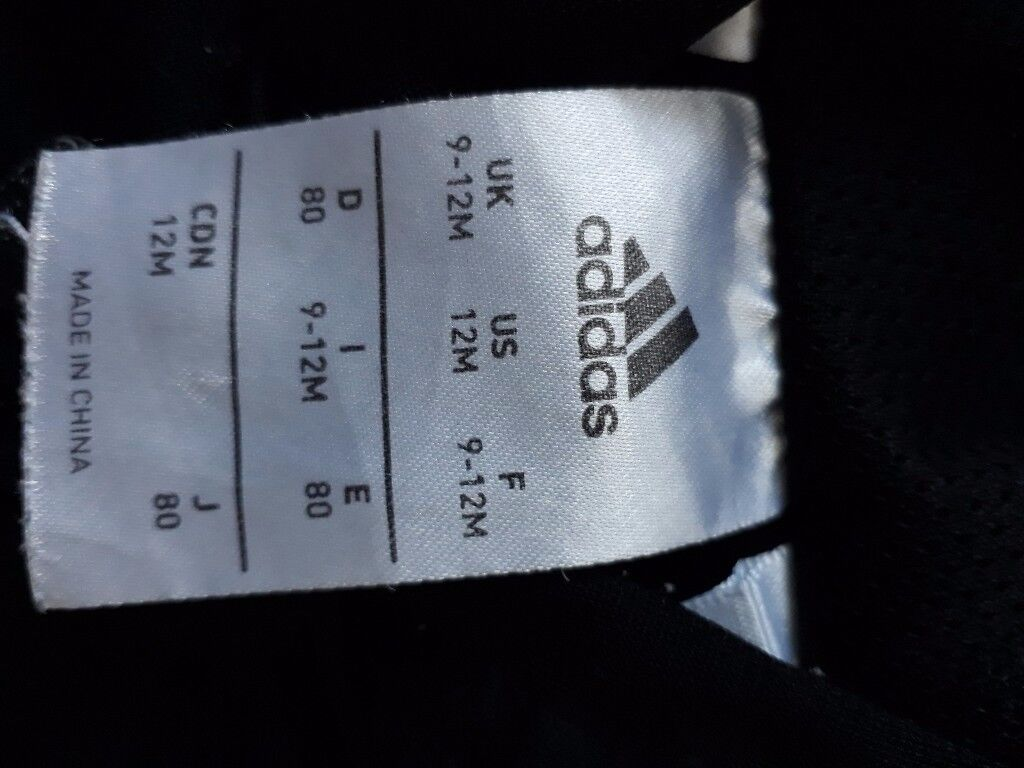 Baby boy adidas tracksuit size 9-12months
