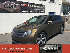 2013 Toyota Venza V6 AWD LEATH ROOF CAM *CERTIFIED*