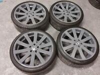 "*Refurbished* 19"" Lenso Granzo Alloy Wheels & Tyres 5x112 VW Pure Grey Audi/Mercedes/Skoda/Seat"
