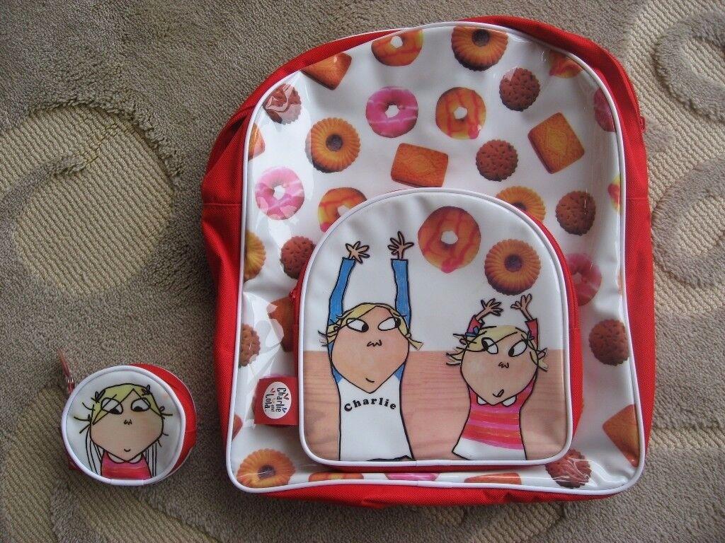 Charlie & Lola Backpack & Matching Purse