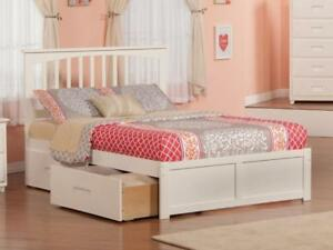 FREE Delivery in Calgary! Fraser Mission Platform Bed with Storage Drawers!
