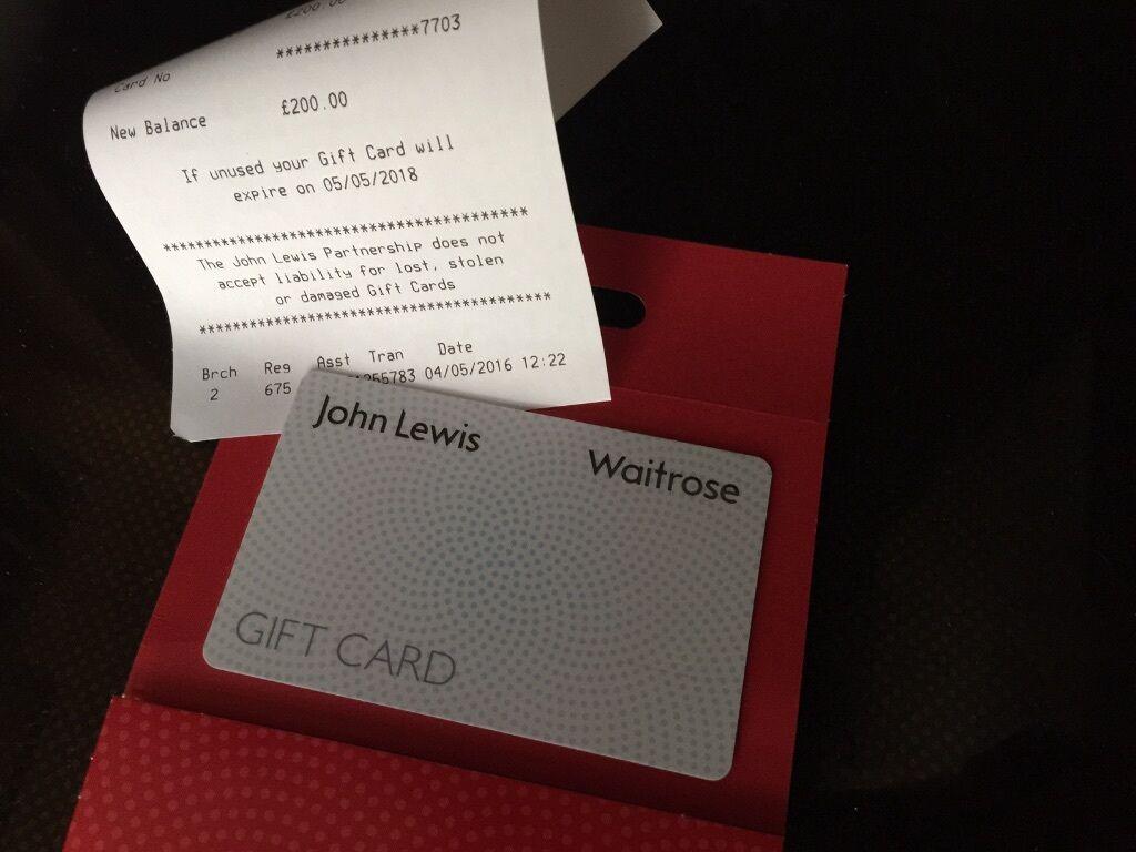 Wedding Gift John Lewis: £200 JOHN LEWIS / PETER JONES / WAITROSE GIFT CARD VOUCHER