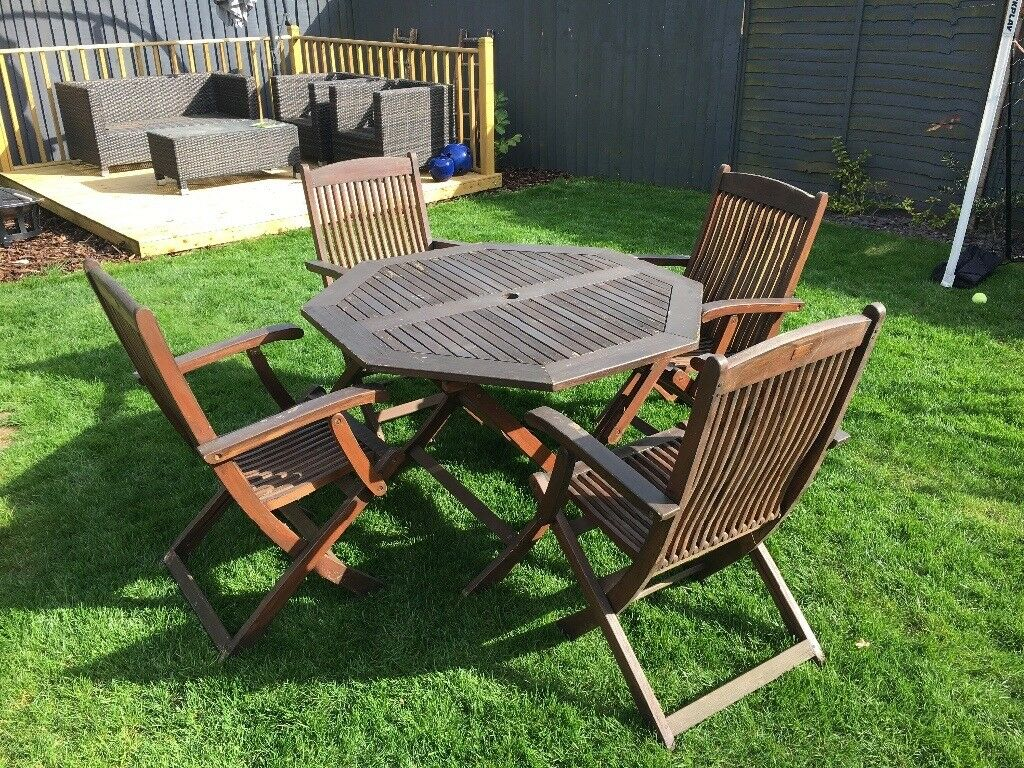 Hardwood Garden Furniture Set Table And Chairs