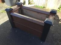 Large wooden garden planter
