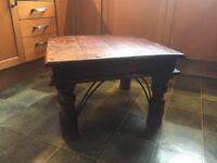 Dark Solid Wood Coffee Table (matching pair available)