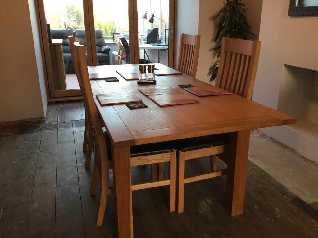 Dining Table And 4 Chairs Next Extending Cambridge Oak Other Matching Items Available