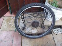 mountain bike wheel alex rim with tyre 24 geared