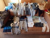 Bundle of baby boys clothes age 6-9 months