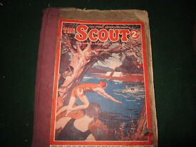 OLD BOUND VOLUME OF THE SCOUT 1926/27 MAGAZINE