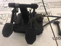 Dual control pedals
