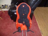 child bike seat red